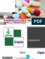 Comparison of two pharmaceutical companies