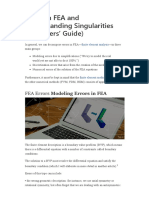 Errors in FEA and Understanding Singularities (Beginners' Guide)