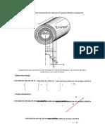 Coeficiente global de transmisión de calor para la pared cilíndrica compuesta