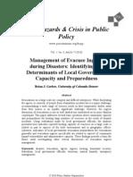 Management of Evacuee Ingress during Disasters