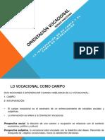 Orientacion vocacional (Rascova) -Campo e intervención