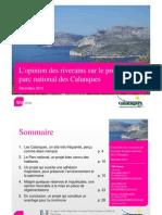 Calanques_Présentation sondage