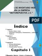 presentacion Inventario web repuestos
