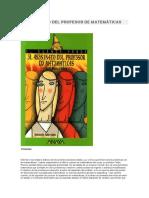 resumen EL ASESINATO DEL PROFESOR DE MATEMÁTICAS