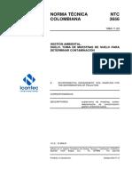 NTC3656  Norma tecnica colombiana muestreo de suelos para determinar contaminación.pdf