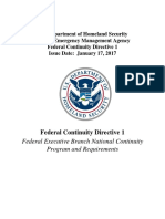 Federal Continuity Directive - January 2017 Fcd 1