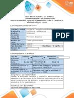 Guía de actividades y rúbrica de evaluación - Paso 2 - Analizar la Administración de Costos