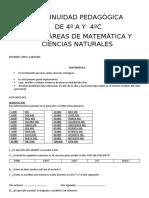 ACTIVIDADES PEDAGÓGICAS  DE 4º A Y 4ºC (1)