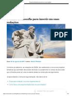 8 temas de filosofia para inserir em suas redações