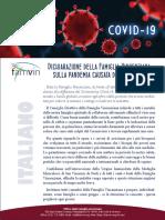 [Italiano]  Dichiarazione della Famiglia Vincenziana sulla pandemia causata dal COVID-19