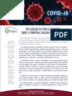 [Português]  Declaração da Família Vicentina sobre a pandemia causada pelo Covid-19