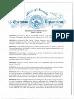 2020 03 20.Declaration of Emergency Directive 003