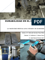 Resistividad electrica en el concreto