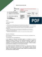 formato de proyecto Escolar 2019  - 2020