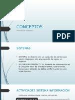 Conceptos sobre Análisis de Sistemas