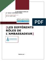 Les différents rôles de l'ambassadeur