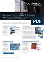 Avigilon Control Center Software Flyer