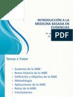 Introducción a la Medicina Basada en Evidencias