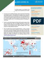 World Health Organization COVID-19 Report - March 20