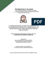 la penalizacion de la practica abortiva y la vulneracion de derechos y garantias en las adolescentes del area metropolitana de San Salvador.pdf