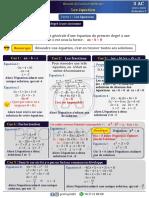 Cours  -  Les équations FR
