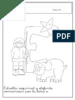 """grafomotricidad letra """"e"""""""