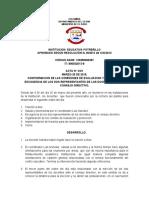 ACTAS DE CONFORMACION DEL GOBIERNO ESCOLAR