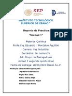 REPORTE DE PRACTICA UNIDAD 1-ENLACES QUIMICOS