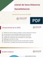 Jornada Nacional de Sana Distancia. Susana Distancia, 20 marzo 20