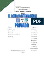 UNIVERSIDAD NACIONAL EXPERIMENTAL  TRABAJO DE DERECHO INTERNACIONAL  PRIVADO.doc
