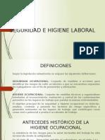 primera presentacion SEGURIDAD E HIGIENE LABORAL