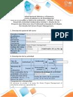 Guía de actividades y rúbrica de evaluación - Paso 2 – Desarrollo Actividad Colaborativa Unidad 1