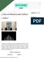 ¿Cuál es la diferencia entre Católicos y Judíos - DIFIERE