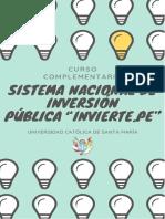 """TRABAJO_SISTEMA NACIONAL DE INVERSIÓN PÚBLICA """"INVIERTE.PE"""""""