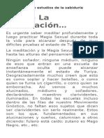 Monografía de Estudios de La Sabiduría Oculta 21 Y 22