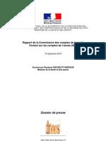 Comptes nationaux de la santé pour 2009