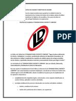 POLITICA DE CALIDAD Y OBJETIVOS DE CALIDADLD TRANSNATIONAL DIVERSITY COMPANY.docx