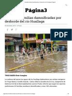 Veintidós familias damnificadas por desborde del río Huallaga _ Página3