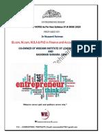 Entrepreship JK BOSE BY Dr Muzzamil Rehman