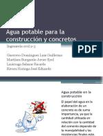 EXPO 2 Agua potable para la construcción y concretos