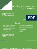 WHO's Advice for the Public on (Covid-19) Coronavirus