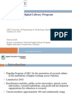 Role of HEC Digital Library - October 26, 2010