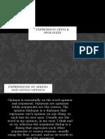 Expression opini & apologize