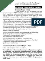 22 March 2020 Service Sheet (A4)