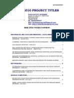 IEEE_2010_Titles