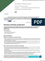 Directeur technique (production) - Apec.fr - Cadres