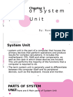 parts of System Unit and Motherboard
