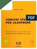 Gotz Nándor - Concert Etudes for Saxophone