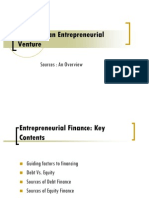Financing an Entrepreneurial Venture