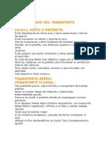 Transporte Covid 19